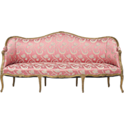 SALE French Louis XV Antique Canape Settee Sofa, Early 19th Century