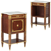 Pair of French Louis XVI Antique Cabinets by Guillaume Grohé