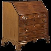 SALE American Chippendale Oxbow Antique Desk c. 18th Century