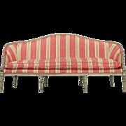 French Louis XVI Antique Settee Sofa c. Late 18th Century