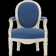 SALE French Louis XVI Antique Fauteuil Arm Chair, 18th Century