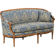French Louis XVI Antique Canape Sofa Settee, Early 19th Century