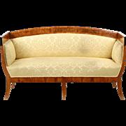 Biedermeier Antique Settee Canape Sofa, Northern Europe c. 1830