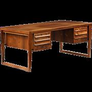 Danish Mid-Century Modern Teakwood Vintage Partner's Desk