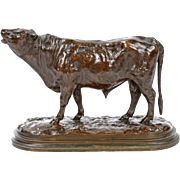 Rosa Bonheur French Bronze Sculpture of Bull, Peyrol Foundry