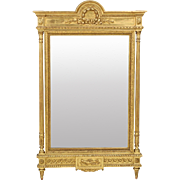 SALE PENDING French Antique Carved Pier Mirror, 19th Century