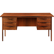 Danish Mid-Century Modern Rosewood Vintage Executive Desk