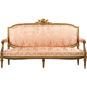 French Louis XVI Antique Canape Settee c. 1900