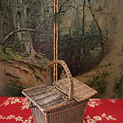 Lovely French Wicker Basket