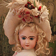 SALE PENDING (On Hold for M. )Pretty French Bisque Bébé by Jumeau Size 8 with Wonderful Cost