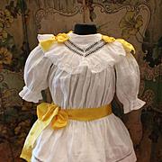 Lovely Original Antique French White Cotton Dress for Bébé