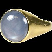 $11,000 Retail!  Huge Mens 11ct Genuine Star Sapphire 14k Yellow Gold Ring