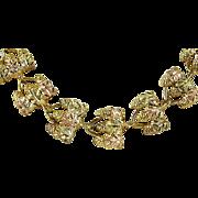 """RARE Estate Vintage 10k Black Hills Gold Leafy and Grape Necklace 16"""" Long"""
