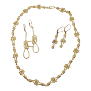 Hand Crafted 18K Nautical Necklace & Earring Set by A.G.A. Correa & Son
