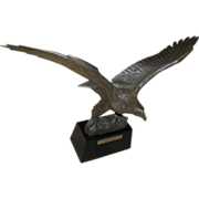 """Sterling Silver Sculpture """"The Great American Eagle"""" by Gilroy Roberts"""