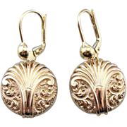 Victorian 14 Rose Gold Fluid Drops with Modern Findings
