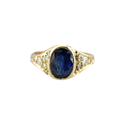 Fine Sapphire and Diamond Ladies Ring for Day or Evening, Easy to Wear
