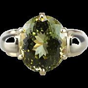 Sillimanite Spring: Rare Grassy Green Gemstone, Bold Cocktail Mounting