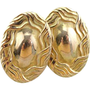 Antique Victorian Stud Earrings in 14K Yellow Gold