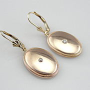 Stunning Art Deco Rose Gold and Diamond Cufflink Earrings