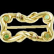Antique 14k yellow gold snake buckle Circa:1890/1900