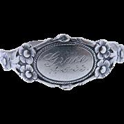 SOLD Antique 830  Silver Baby Bracelet Hallmark,  1833 Nathaniel Mills,  Birmingham