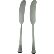 Sterling Silver Pair of Tiffany Butter Knives Vintage 1933.