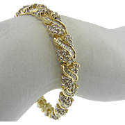 14K Yellow Gold 5.00 cttw Vintage Diamond Tennis Bracelet