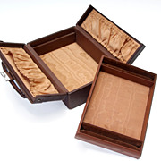Leather Jewelry Box with Removable Ring Tray, Circa 1900