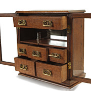 Oak and Brass Desk Humidor Box, circa 1900