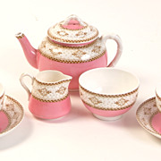 English Porcelain Royal Worcester Pink Tea Set