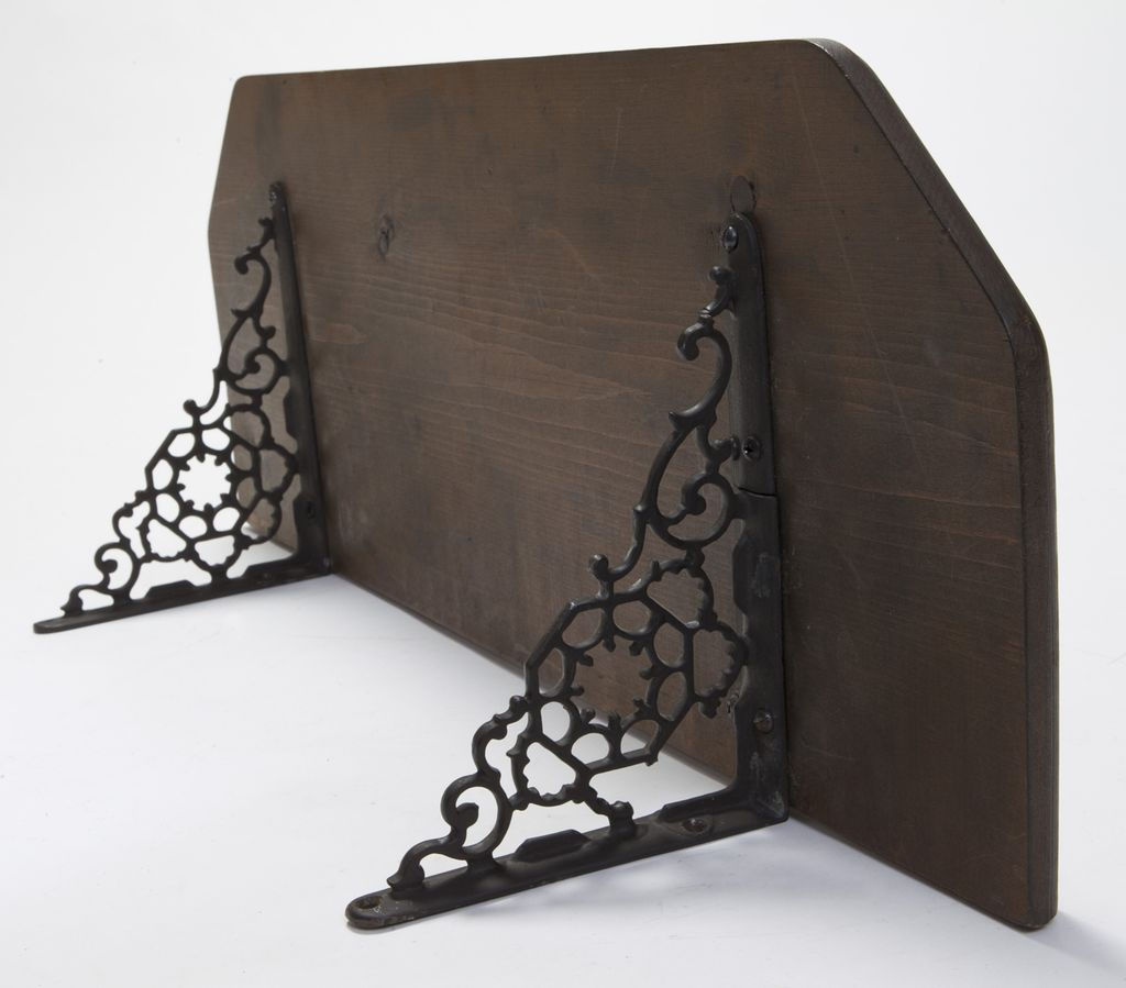 Wonderful image of Iron and Wood Shelf from rubylane sold on Ruby Lane with #5A4E45 color and 1024x899 pixels