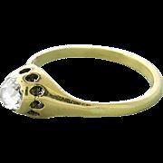 Antique Fourteen Karat Gold Rose Cut Diamond Ring