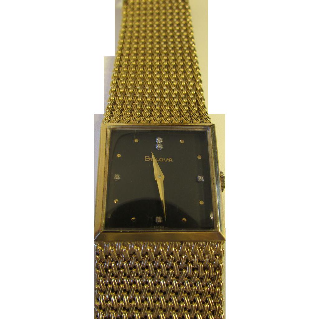 Big English Market 1970s Bulova Gents Wrist Watch with Swiss Movement
