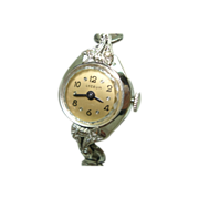 14KT White Gold Diamond Lyceum Ladies Vintage Wristwatch