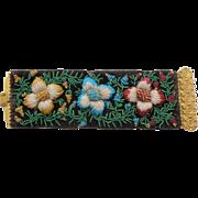 Fine Antique Beadwork Cuff c1840