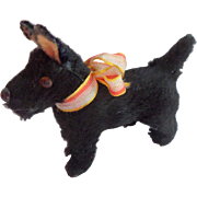 SOLD Black Scotty Dog For Dolls House c1930