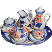 Imari Pattern Miniature Tea Set German c1900