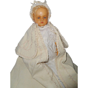 SOLD Pierotti Poured Wax Child Doll c1880