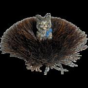 Delightful Bronze Cat Pen Wipe c1900