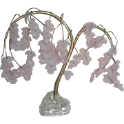 Pink Art Deco French Glass Tree c1930