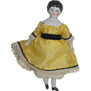 Tiny German Dolls House Doll c1900