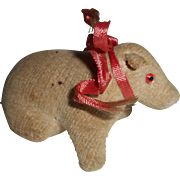 Unusual Velvet Pig Pincushion c1915