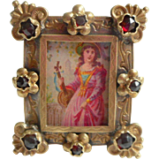 Fine Victorian Miniature Jewelled Frame c1890