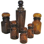 Beautiful Vintage Brown Bottles Collection