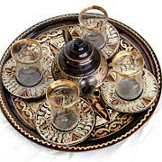 Stunning Copper Middle East Tea Set