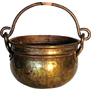 Ca. 1930's Very Pretty Copper Caldron