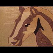 Wonderful Horse Hooked Rug