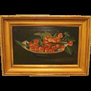 19th Century Still Life of Cherries by Sinette