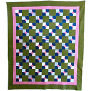 Bow Tie Quilt in Early Calicos 19th C